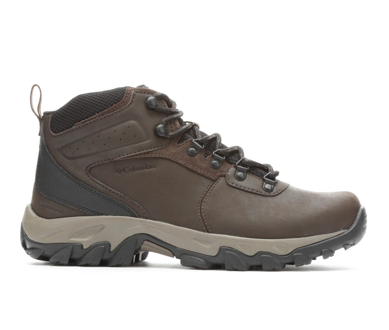 Columbia Newton Ridge Plus II Waterproof Men's Boots (Brown Faux Leather)