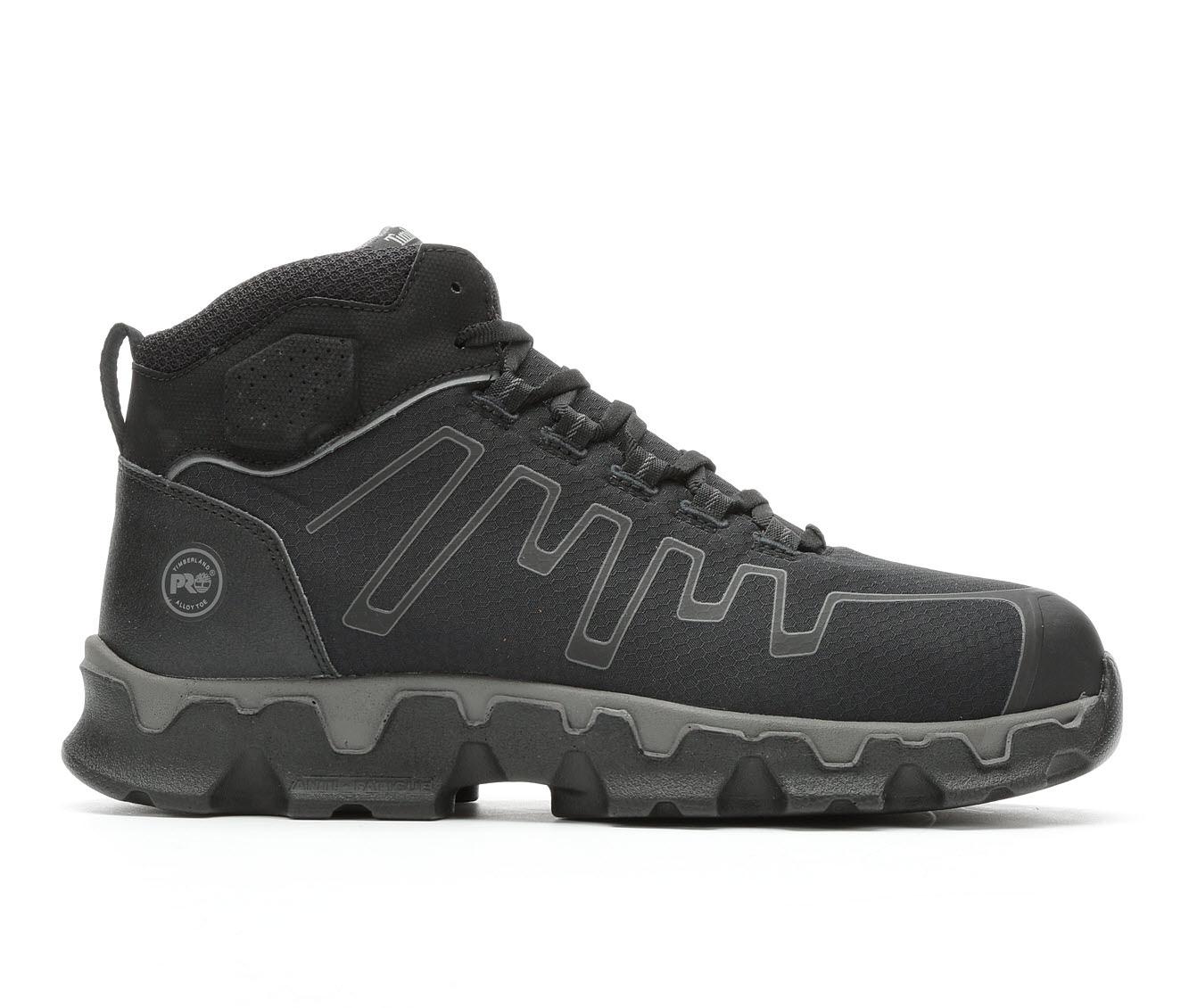 Timberland Pro Powertrain Sport Mid A1JYQ Men's Boots (Black Canvas)