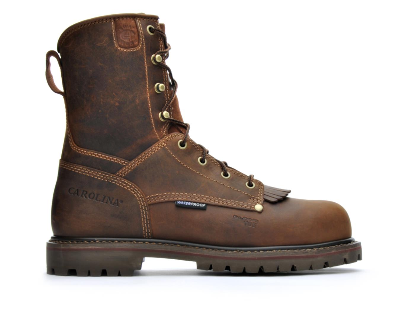 Carolina Boots CA8528 8 In Composite Toe Waterproof Men's Boots (Brown Leather)