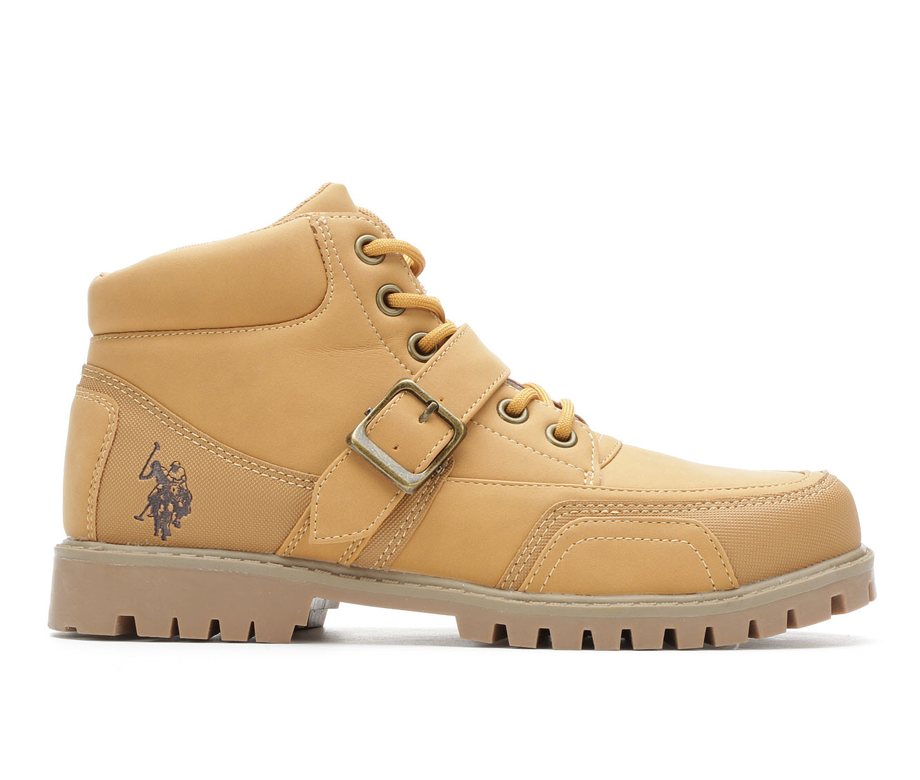 US Polo Assn Andes Men's Boots (Beige Faux Leather)