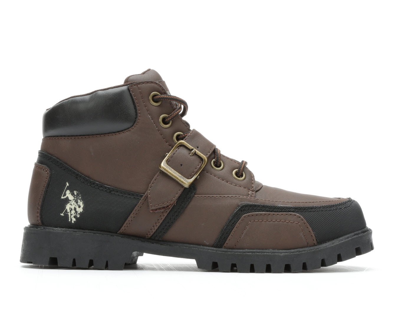 US Polo Assn Andes Men's Boots (Brown Faux Leather)
