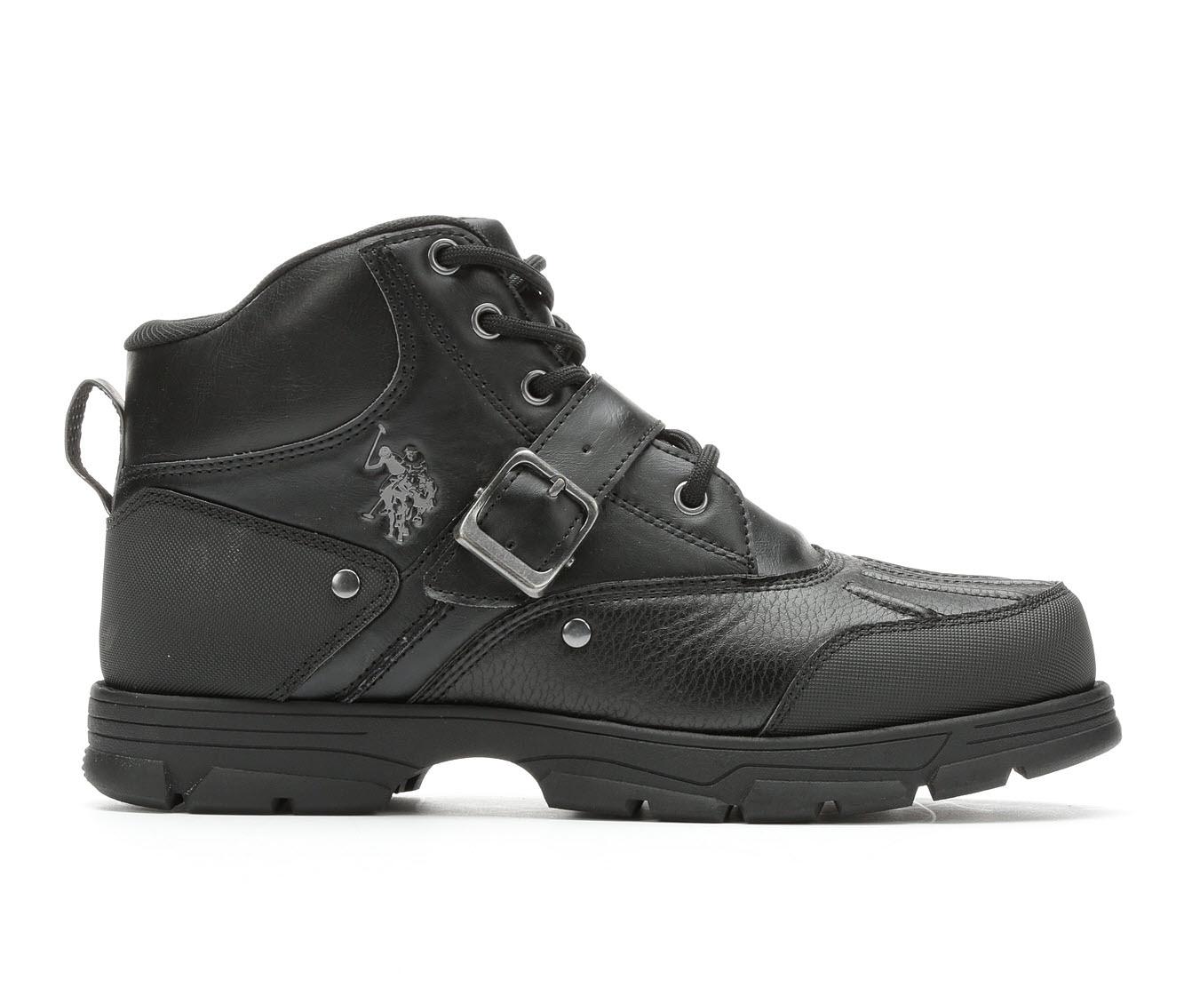 US Polo Assn Kedge Lace-Up Men's Boots (Black Faux Leather)