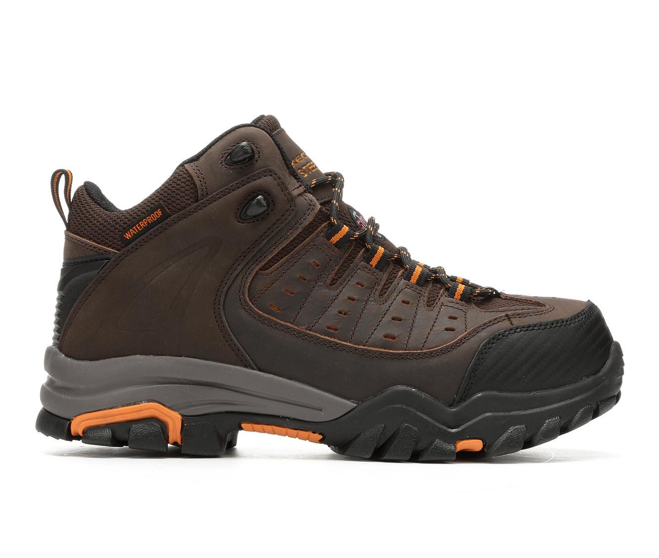 Skechers Work Lakehead Waterproof Steel Toe 77126 Men's Boots (Brown Leather)