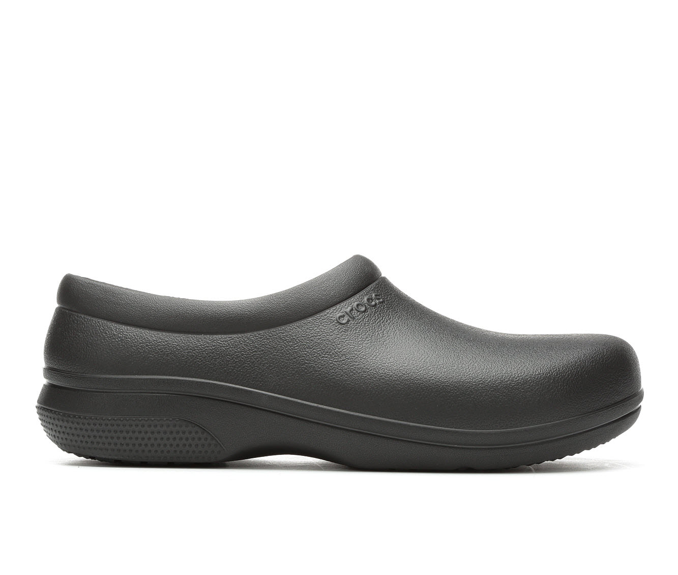 Crocs Work On the Clock Slip On Men's Boots (Black Faux Leather)