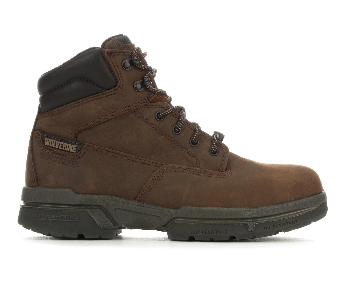 Wolverine I-80 Durashock Steel Toe Men's Boots (Brown Leather)