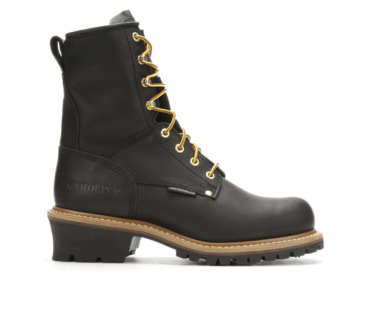 Carolina Boots CA8823 8 Inch Nonsteel Toe Men's Boots (Black Leather)