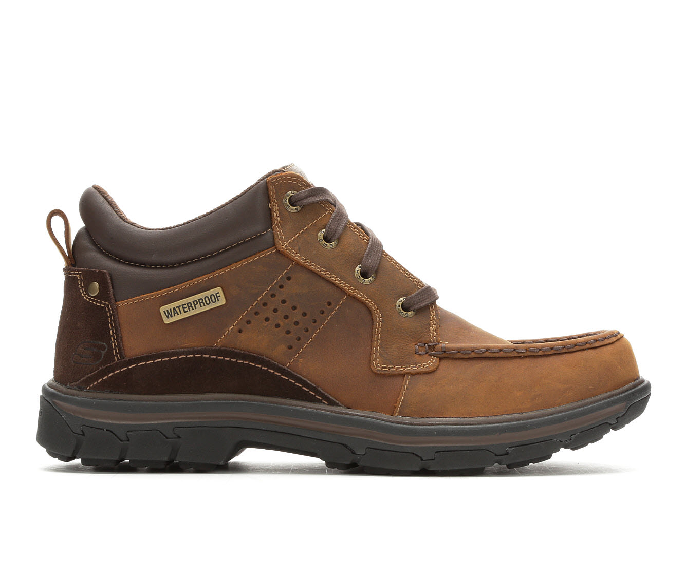 Skechers Melego 64522 Men's Boots (Brown Leather)