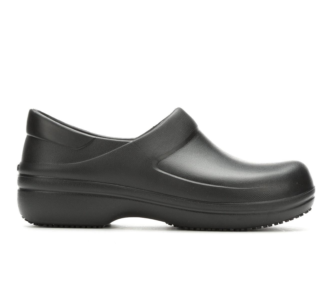 Crocs Work Neria Pro II Clog Men's Boots (Black Faux Leather)