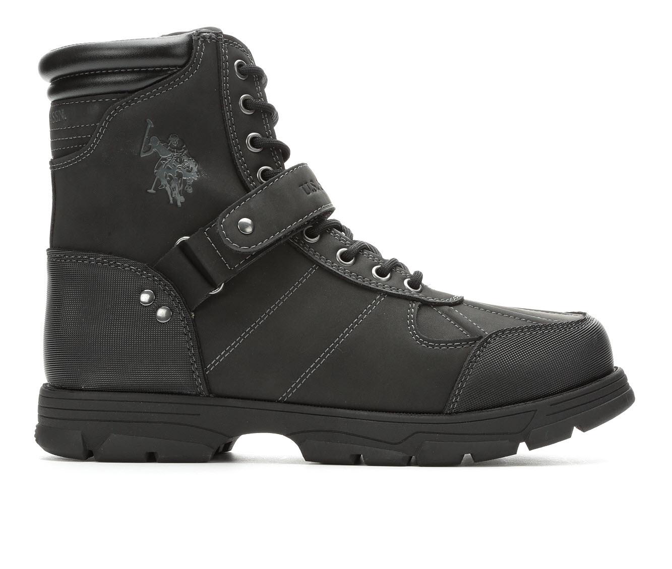 US Polo Assn Connor Men's Boots (Black Faux Leather)