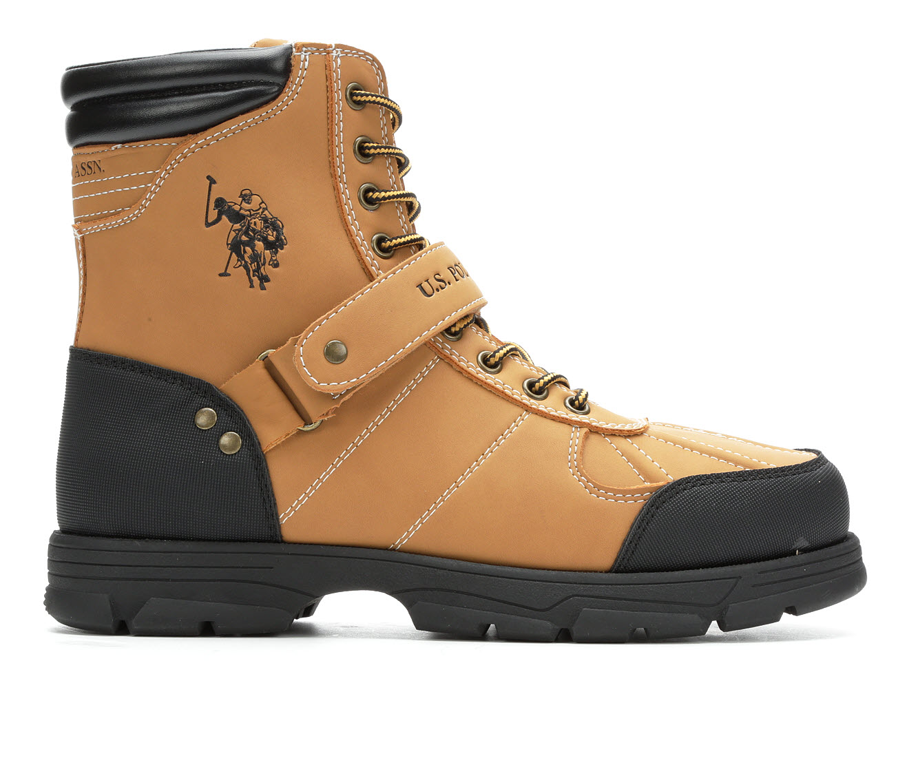 US Polo Assn Connor Men's Boots (Beige Faux Leather)