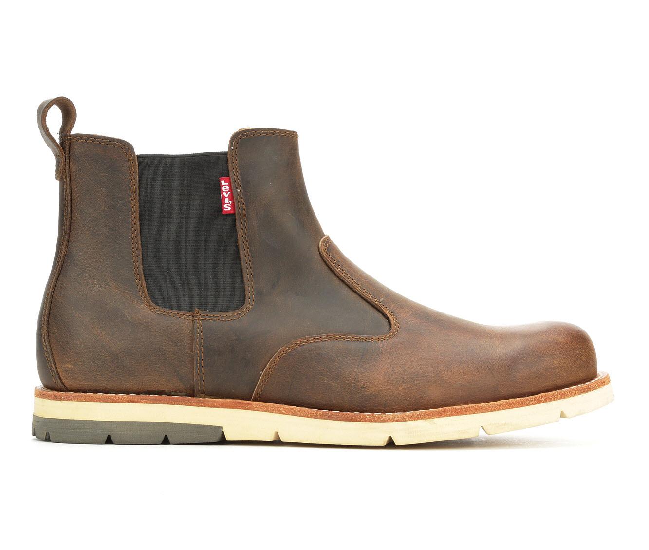 Levis Chelsea Logger Men's Boots (Brown Leather)