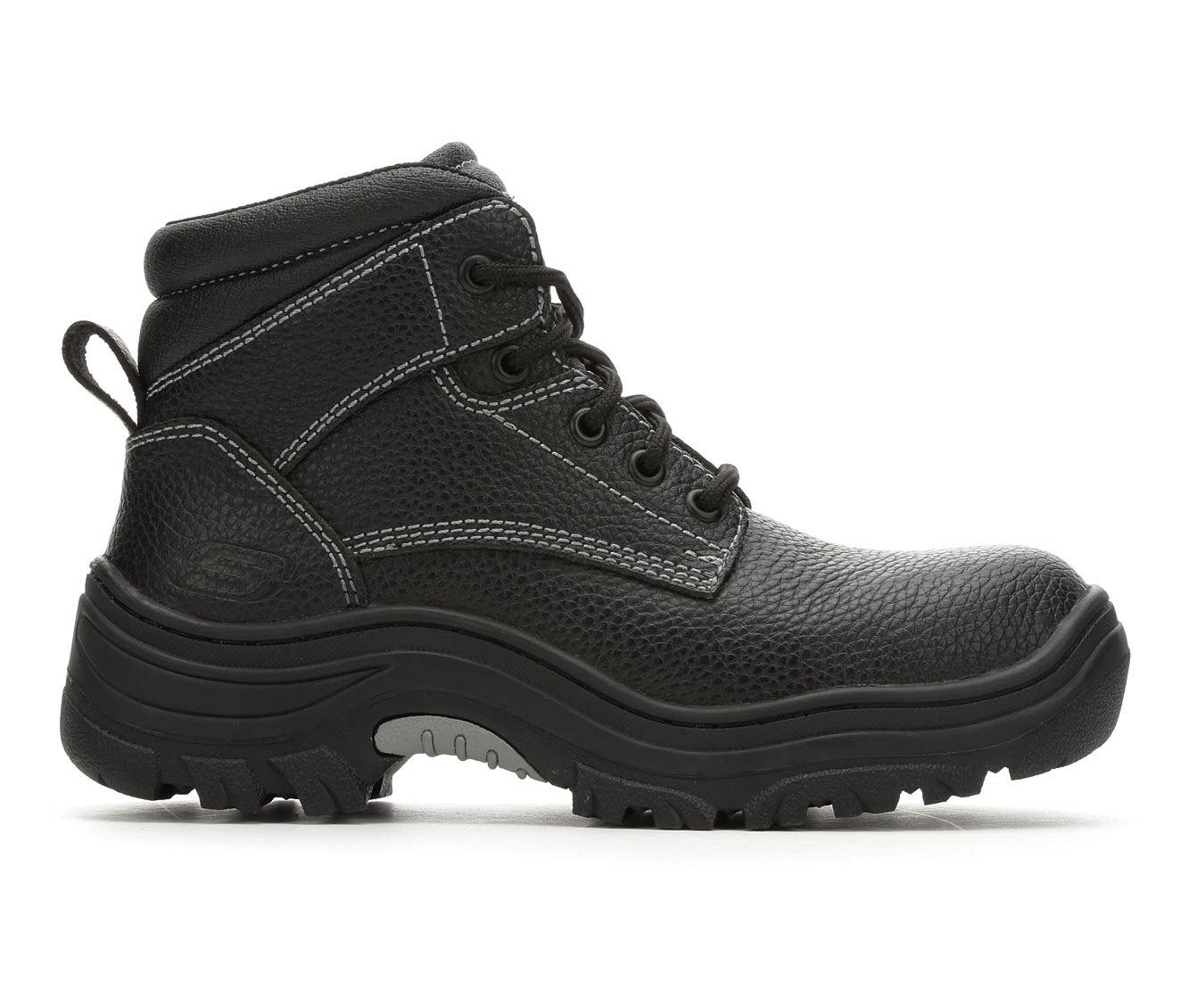 Skechers Work Workshire Krabok 77241 Steel Toe Men's Boots (Black Leather)