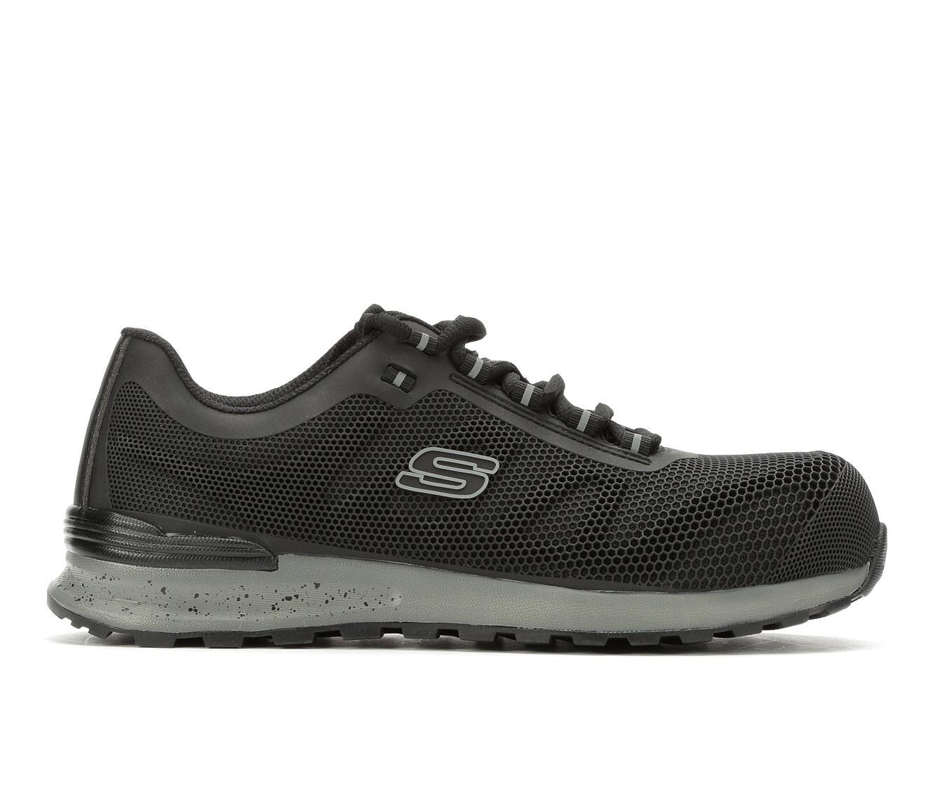 Skechers Work Bulkin 77180 Composite Toe Men's Boots (Black Leather)