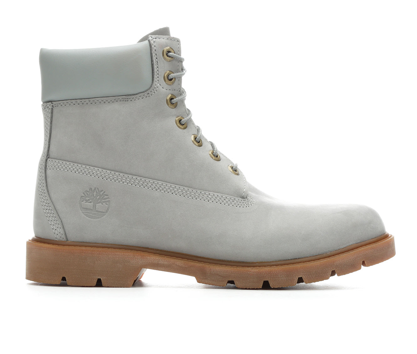 Timberland 6 Inch Padded Contrast Collar Men's Boots (Gray Leather)