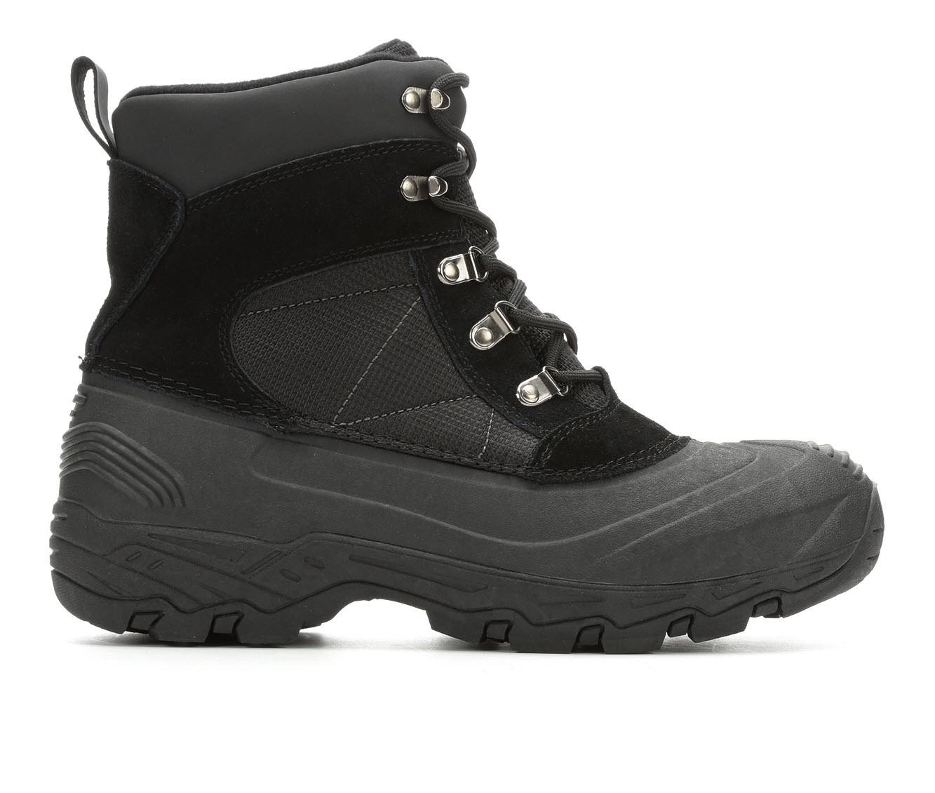 London Fog Woodside Men's Boots (Black Faux Leather)