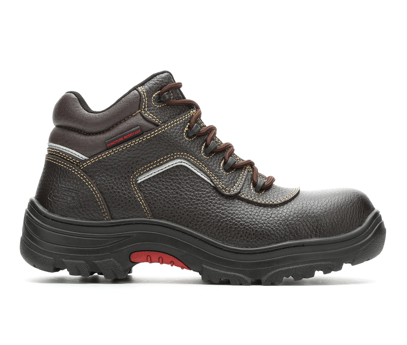 Skechers Work Workshire Burgin Sosder 77144 Men's Boots (Brown Faux Leather)