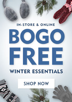In-Store & Online BOGO FREE Winter Essentials