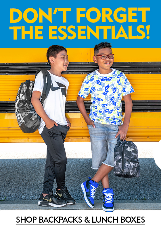 Don't Forget The School Essentials! Shop Backpacks and Lunch Boxes