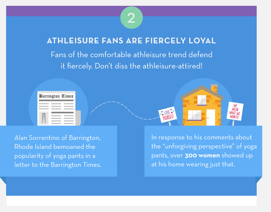 Athleisure fans are fiercely loyal.