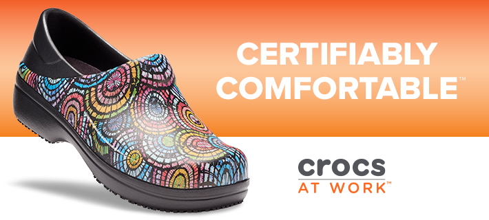 Certifiably comfortable Crocs at Work non-slip clogs