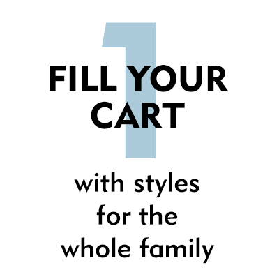 1. Fill your card with styles for the whole family