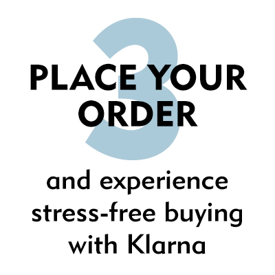 3. Place your order and experience stress-free buying with Klarna