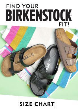 Find Your Birkenstock Fit! View Size Chart.