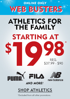 Online Only Web Busters Athletics For The Family Starting At $19.98